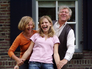 with grandparents in Holland