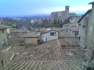 A room with a view in Siena